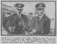 Carpenter A F B Captain VC Royal Navy The Graphic 24th July 1918