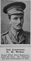 Walker E B 2nd Lt 1st Royal West Kent Regiment The Sphere 15th May 1915