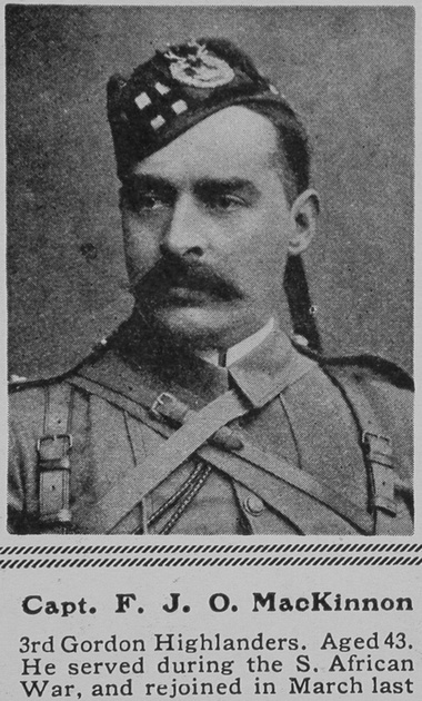 UK Photo Archive: M &emdash; MacKinnon F J O Captain Gordon Highlanders The Sphere 3rd Jul 1915