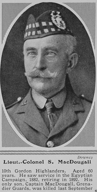 UK Photo Archive: M &emdash; MacDougall S Lt Col 10th Gordon Highlanders The Sphere 28th Aug 1915
