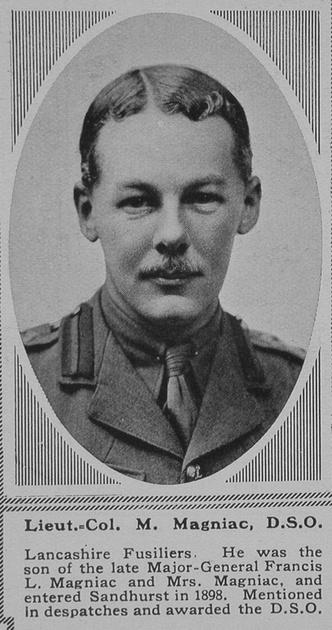 UK Photo Archive: M &emdash; Magniac M Lt Col DSO 1st Lancashire Fusiliers The Sphere 23rd June 1917