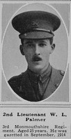 Palmer W L 2nd Lt 3rd Monmouthshire Regiment The Sphere 5th Jun 1915