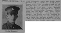 James R Pte 5th Royal Welsh Fusiliers Obit De Ruvignys Roll Of Honour Vol 3