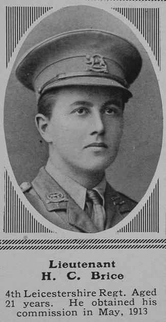 UK Photo Archive: B &emdash; Brice H C Lt 4th Leicestershire Regiment The Sphere 7th Aug 1915