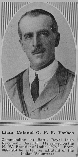 UK Photo Archive: F &emdash; Forbes G F R Lt Col 1st Royal Irish Regiment The Sphere 1st May 1915