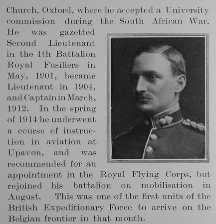UK Photo Archive: A &emdash; Attwood A F Captain 4th Royal Fusiliers Obit Part 2 The Bond Of Sacrifice Vol 1