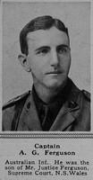 Ferguson A G Captain 20th Australian Infantry, A.I.F.The Sphere 24th Mar 1917