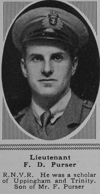 UK Photo Archive: P &emdash; Purser F D Lt RNVR The Sphere 9th Mar 1918