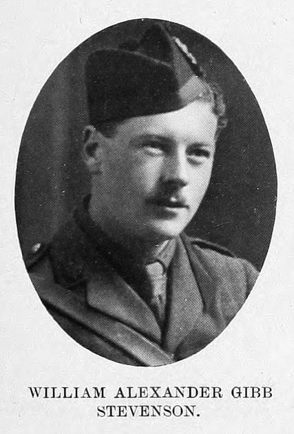 UK Photo Archive: St Andrew's University Roll Of Service &emdash; Stevenson W A G Captain 14th Highland Light Infantry St Andrews University Roll Of Honour