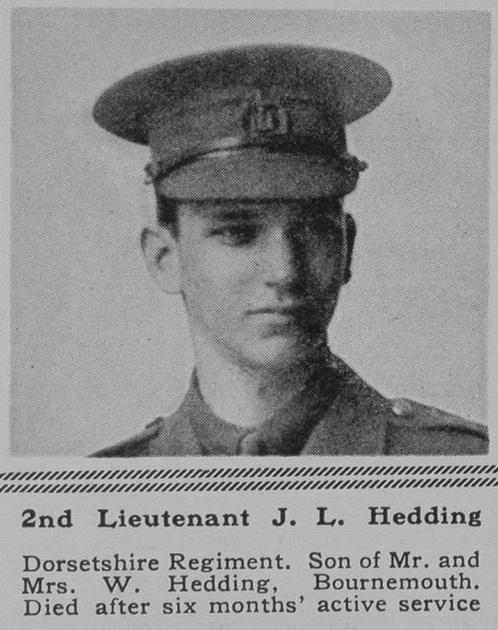 UK Photo Archive: H &emdash; Hedding J L 2nd Lt 3rd Dorset Regt The Sphere 13th May 1916