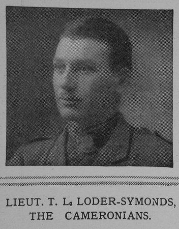 UK Photo And Social History Archive: L &emdash; Loder-Symonds T L Lt Cameronians The Illustrated London News 29th May 1915