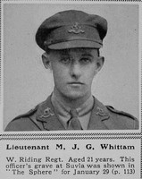 Whittam M J G Lt 8th West Riding Regt The Sphere 4th Mar 1916