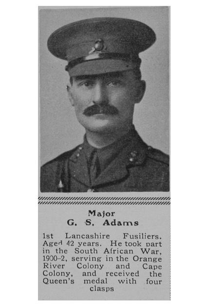 UK Photo Archive: A &emdash; Adams G S Major 1st Lancashire Fusiliers