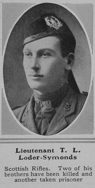 UK Photo Archive: L &emdash; Loder-Symonds T L Lt Cameronians The Sphere 5th Jun 1915