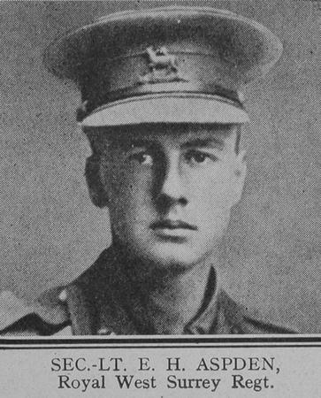 UK Photo And Social History Archive: The Great War Vol 11 &emdash; Aspden E H 2nd Lt Queen's Royal West Surrey Regiment The Great War Vol 11