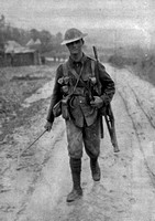 A Canadian Soldier Returning From The Trenches