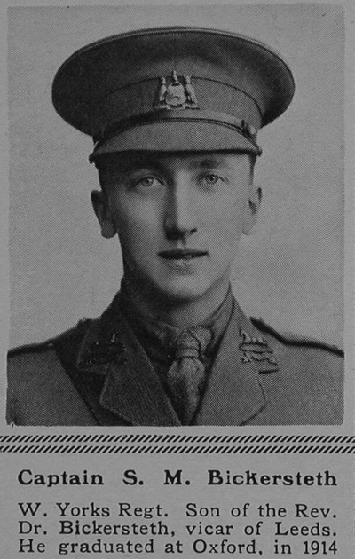 UK Photo Archive: B &emdash; Bickersteth S M Captain 15th West Yorkshire Regiment (Prince of Wales's Own) The Sphere 9th Sep 1916
