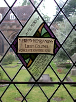 Nunn M H Lt Col 9th Worcestershire Regt Memorial Window Worcester Cathedral