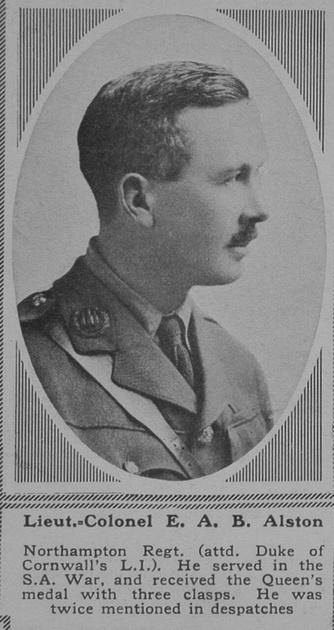 UK Photo Archive: A &emdash; Alston E A B Lt Col Northants Regt The Sphere 24th Nov 1917