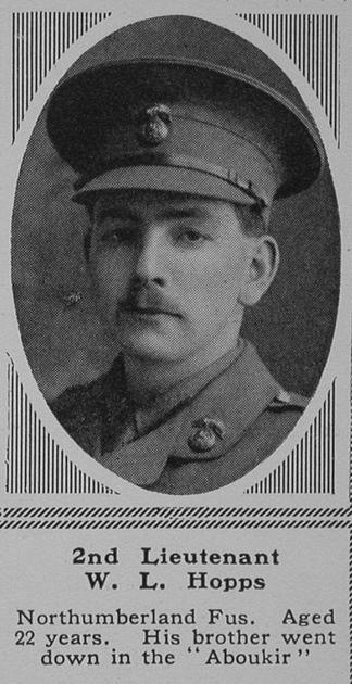 UK Photo Archive: H &emdash; Hopps W L 2nd Lt 25th Northumberland Fusiliers  The Sphere 8th July 1916