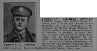 Thorburn C E A Sapper 301127 Royal Engineers Obit De Ruvignys Roll Of Honour Vol 5