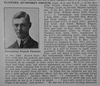Flowers H F Captain RFC Obit Part 1 De Ruvignys Roll Of Honour Vol 4