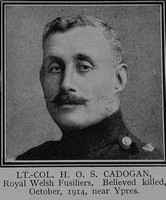 Cadogan H O S Lt Col 1st Royal Welsh Fusiliers