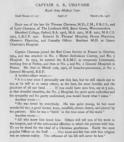 Chavasse A R Captain Royal Army Medical Corps Obit Harrow Roll Of Honour Vol 3