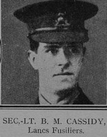 Cassidy B M 2nd Lt VC 2nd Lancashire Fusiliers The Great War Vol 12