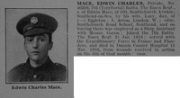 Mace E C Pte 7th Essex Regiment Obit De Ruvignys Roll Of Honour Vol 3