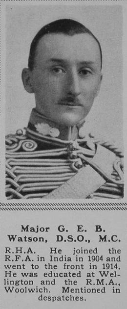 UK Photo Archive: W &emdash; Watson G E B Major DSO MC RHA The Sphere 5th Oct 1918