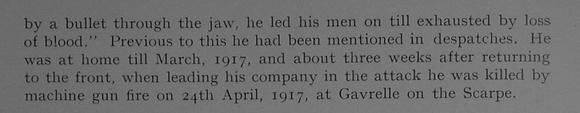 UK Photo Archive: Dulwich College War Record 1914-1919 &emdash; Proctor W H Captain DSO 10th Loyal North Lancashire Regiment Obit Part 2 Dulwich College Roll Of Honour