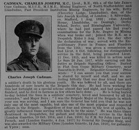Cadman C J Lt MC Royal Engineers Obit De Ruvignys Roll Of Honour Vol 4