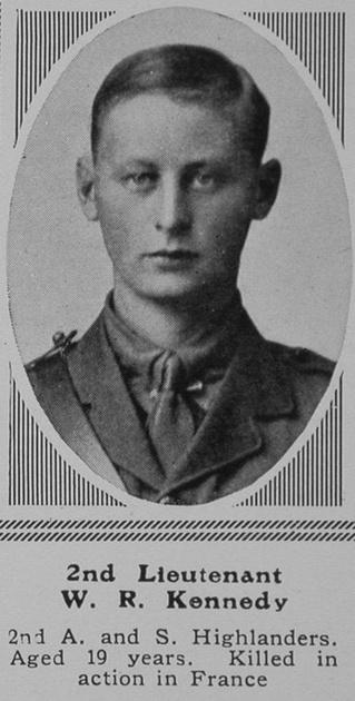 UK Photo Archive: K &emdash; Kennedy W R 2nd Lt 2nd A & S Highlanders The Sphere 29th Jan 1916