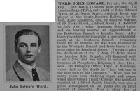 Ward J E Pte 68 5th London Rifle Brigade Obit Part 1 De Ruvignys Roll Of Honour Vol 1