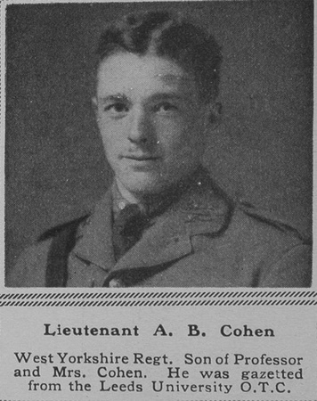 UK Photo Archive: C &emdash; Cohen A B Lt West Yorks Regt The Sphere 29th Dec 1917