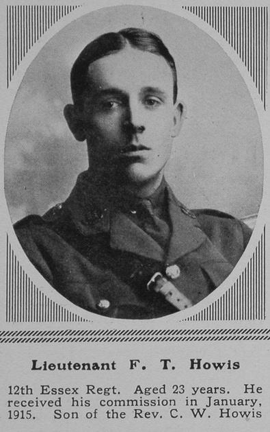 UK Photo Archive: H &emdash; Howis F T Lt 12th Essex Regt The Sphere 15th Jan 1916