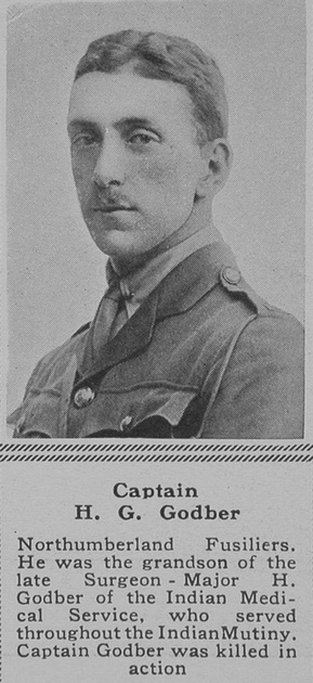 UK Photo Archive: G &emdash; Godber H G Captain Northumberland Fusiliers The Sphere 18th Aug 1917