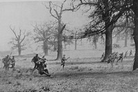 Army Cyclist Corps Officers At Infantry Drill