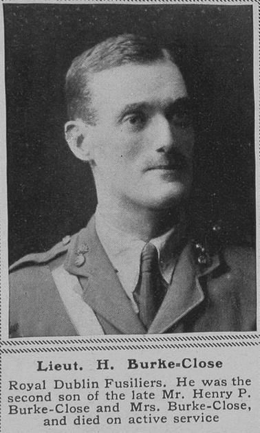 UK Photo Archive: B &emdash; Burke-Close H Lt R Dublin Fusiliers The Sphere 21st Dec 1918