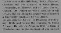 Bagshawe G H 2nd Lt 1st Royal Dragoons Obit Part 2 The Bond Of Sacrifice Vol 2