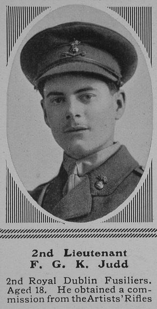 UK Photo Archive: J &emdash; Judd F G K 2nd Lt 2nd Royal Dublin Fusiliers The Sphere 10th Jul 1915