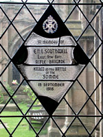 Southwell E H L Lt 13th Rifle Brigade Memorial Window Worcester Cathedral