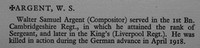 Argent W S Sergt 350125 12th Kings Liverpool Regiment Obit War Record Of Cambridge University Press