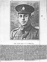 Freund E W T Cpl 106106 Royal Engineers Newspaper Photo Croydon Advertiser 14th Jan 1916