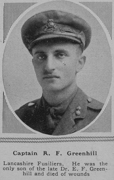 UK Photo Archive: G &emdash; Greenhill R F Captain Lancashire Fusiliers The Sphere 9th Feb 1918