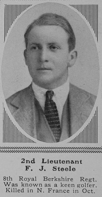 UK Photo Archive: S &emdash; Steele F J 2nd Lt 8th R Berks Regt The Sphere 20th Nov 1915