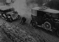 A Car Stuck Fast In The Mud On The Western Front Early In 1917