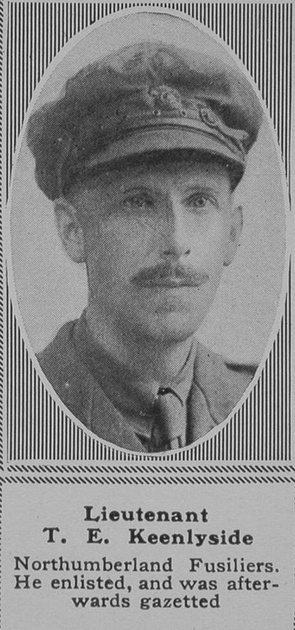 UK Photo Archive: K &emdash; Keenlyside T E Lt 18th Northumberland Fusiliers The Sphere 21st Sep 1918