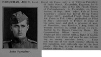 Farquhar J Lt Royal Air Force Obit De Ruvignys Roll Of Honour Vol 5
